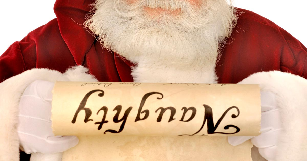 Image result for naughty list